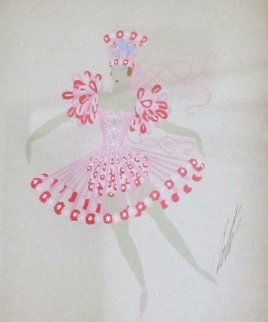Les Girls 1950 18x14 Original Painting by  Erte