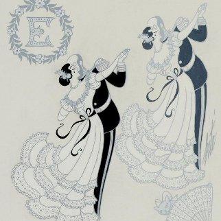 Ermyntrude & Esmeralda 1913 25x24 Original Painting by  Erte