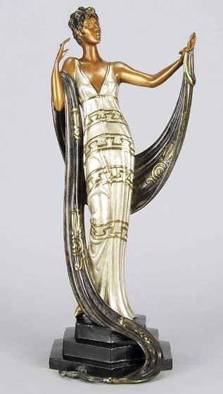 La Coquette Bronze Sculpture 1986 19 in Sculpture by  Erte