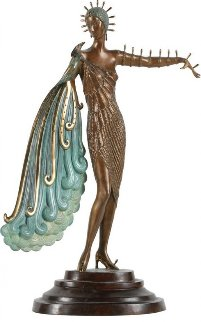 Diva Bronze Sculpture 1986 18 in Sculpture by  Erte