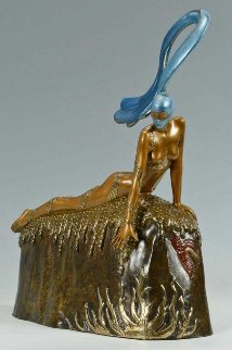 French Rooster Bronze Sculpture 1987 15 in Sculpture by  Erte