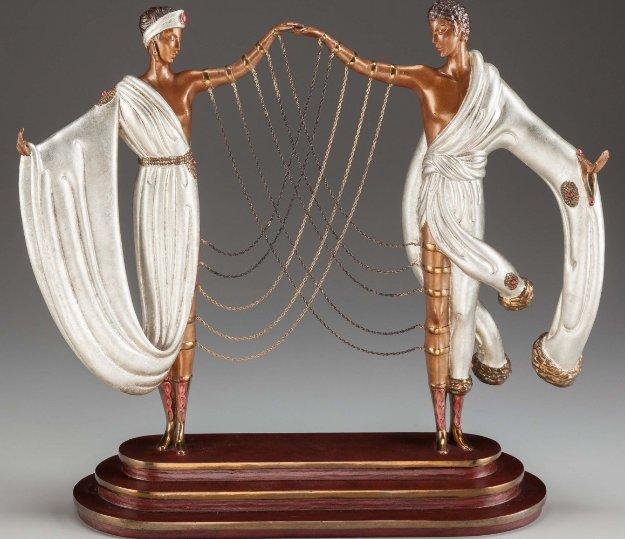 Wedding Bronze Sculpture 1986 17 in  Sculpture by  Erte