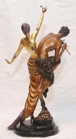 Woman And Satyr Bronze Sculpture 1986 26 in Sculpture by  Erte - 2