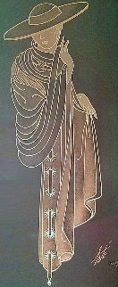 Untitled Art Deco Glass Luminaire 14 in Sculpture by  Erte
