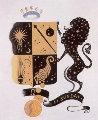 Zodiac Suite: Leo  1982 Limited Edition Print -  Erte