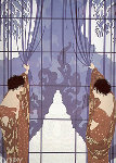 Winters Arrival 1984 Limited Edition Print -  Erte
