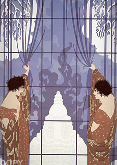 Winters Arrival 1984 Limited Edition Print by  Erte