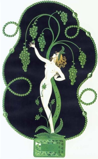 Precious Stones Suite of 6 1969 (Rare Complete Suite) Limited Edition Print by  Erte
