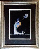 Fan Bearer Original from Aladdin, Folies Bergere 1927 Original Painting by  Erte - 2