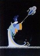 Fan Bearer Original from Aladdin, Folies Bergere 1927 Original Painting by  Erte - 0