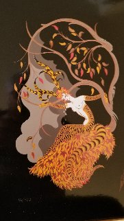 Four Seasons Suite- Summer, Winter, Spring, Fall on porcelain Limited Edition Print by  Erte
