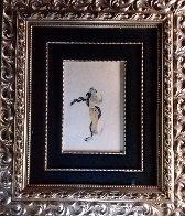 Charmeuse De Serpent 1936 27x32 Original Painting by  Erte - 1