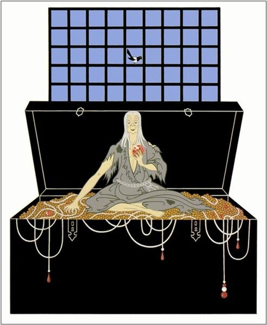 7 Deadly Sins: Series Avarice 1983 Limited Edition Print by  Erte