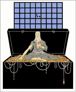 7 Deadly Sins: Series 1983 Limited Edition Print by  Erte