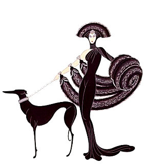 Symphony in Black 1980 Limited Edition Print by  Erte