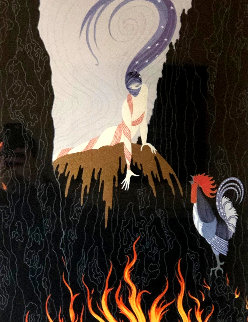 French Rooster 1982 Limited Edition Print -  Erte