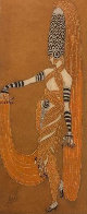 Scheherazade - 8 La Nuit Winter Garden, NY 1924 17x15 Original Painting by  Erte - 1