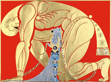 Samson And Delilah 1982 Limited Edition Print by  Erte