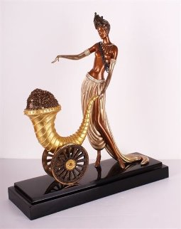 Cornucopia Bronze Sculpture 1990 19 in Sculpture -  Erte