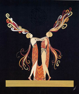 Love and Passion Suite of 2 Limited Edition Print by  Erte