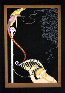 Enchanted Melody 1983 43x30 Huge  Limited Edition Print -  Erte