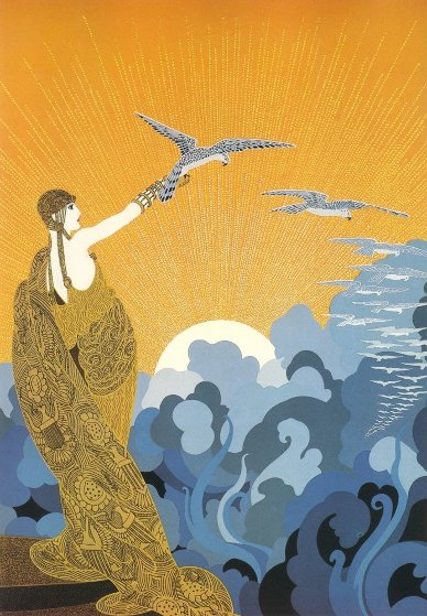 Wings of Victory 1985 Limited Edition Print by  Erte