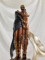 Lovers And Idol Bronze Sculpture AP 1989 20 in  Sculpture by  Erte - 7