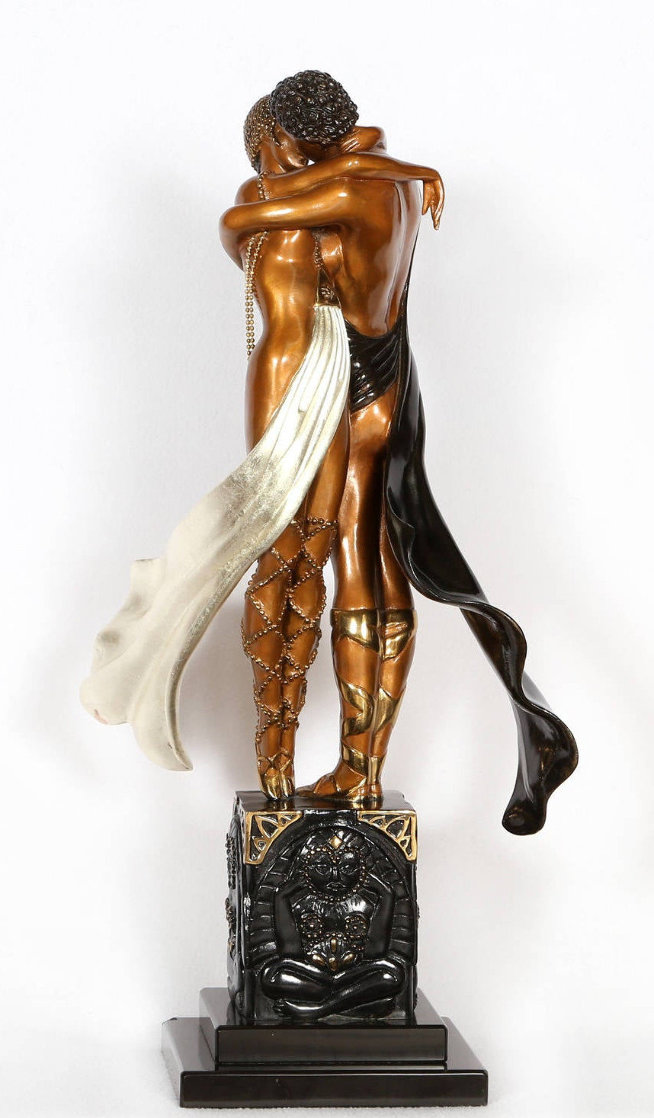 Lovers And Idol Bronze Sculpture AP 1989 20 in  Sculpture by  Erte