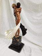 Lovers And Idol Bronze Sculpture AP 1989 20 in  Sculpture by  Erte - 4