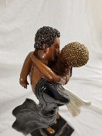Lovers And Idol Bronze Sculpture AP 1989 20 in  Sculpture by  Erte - 8