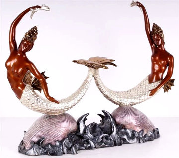 Sirens Bronze Sculpture AP 1988 16 in Sculpture by  Erte
