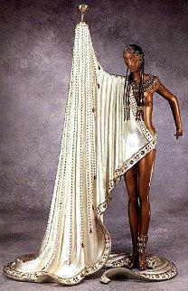 Slave Bronze Sculpture AP 1988 19 in Sculpture by  Erte