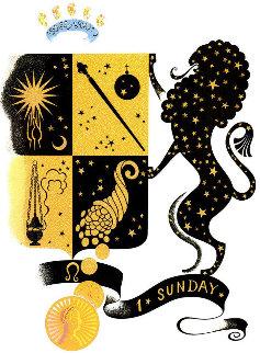 Zodiac Suite: Leo 1982 Limited Edition Print by  Erte