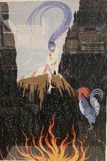 French Rooster PP Limited Edition Print by  Erte