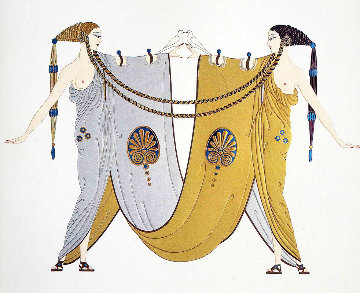 Sisters 1987 Limited Edition Print by  Erte