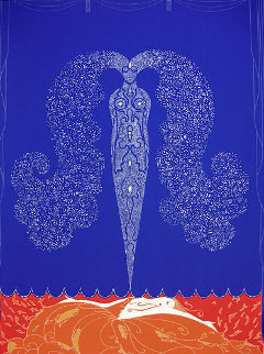 Le Rideau de l'Hiver 1979 Limited Edition Print -  Erte