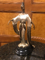 Negligee Bronze Sculpture 1984 17 in Sculpture by  Erte - 1