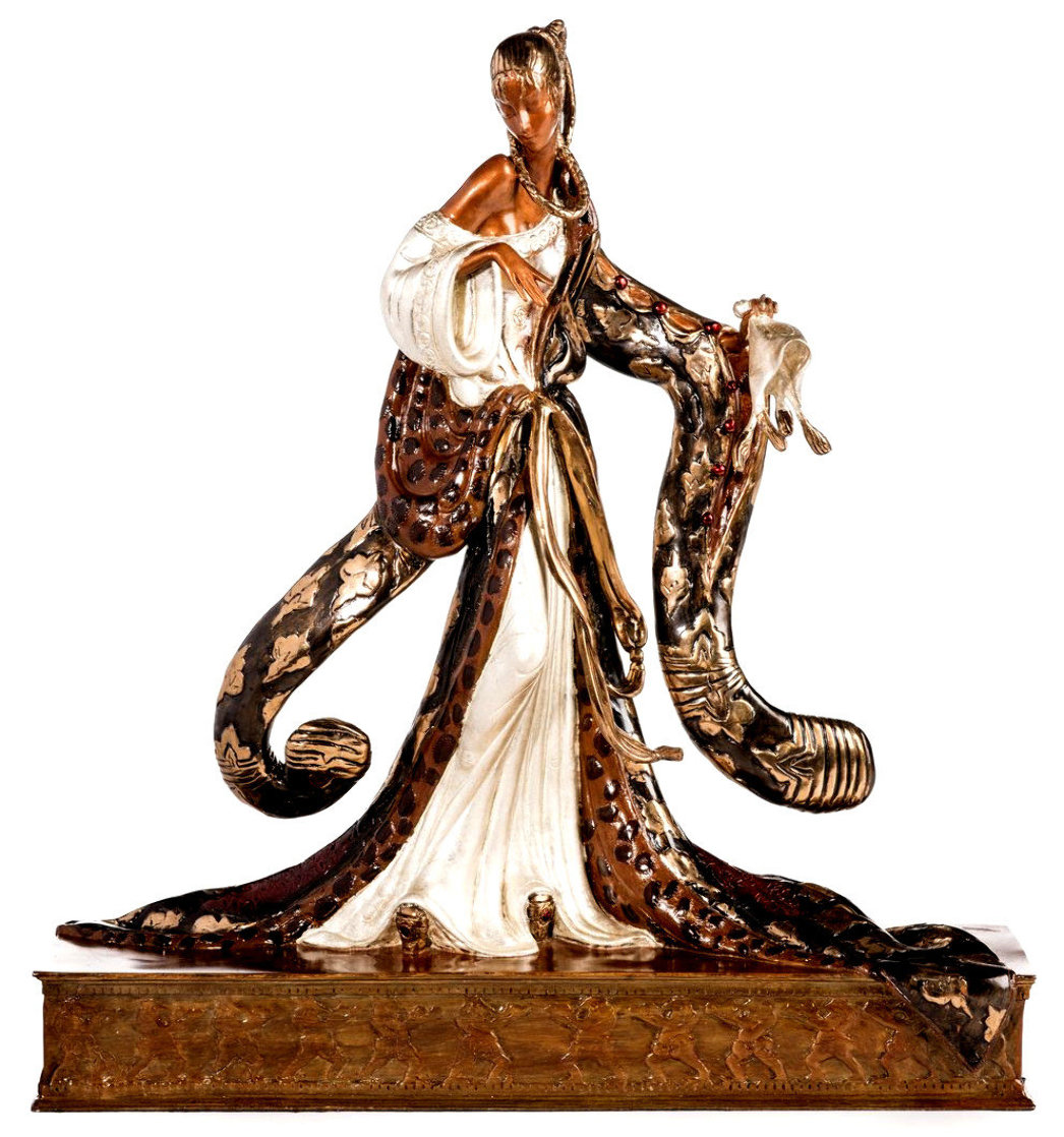 Rigoletto Bronze Sculpture 1988 19 in Sculpture by  Erte