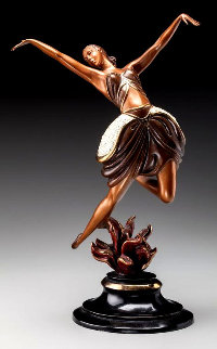 La Danseuse Bronze Sculpture 1985 14 in Sculpture by  Erte