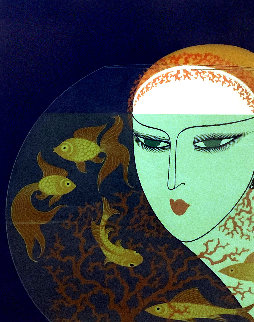 Fishbowl: Twenties Remembered Again Suite 1978 Limited Edition Print by  Erte