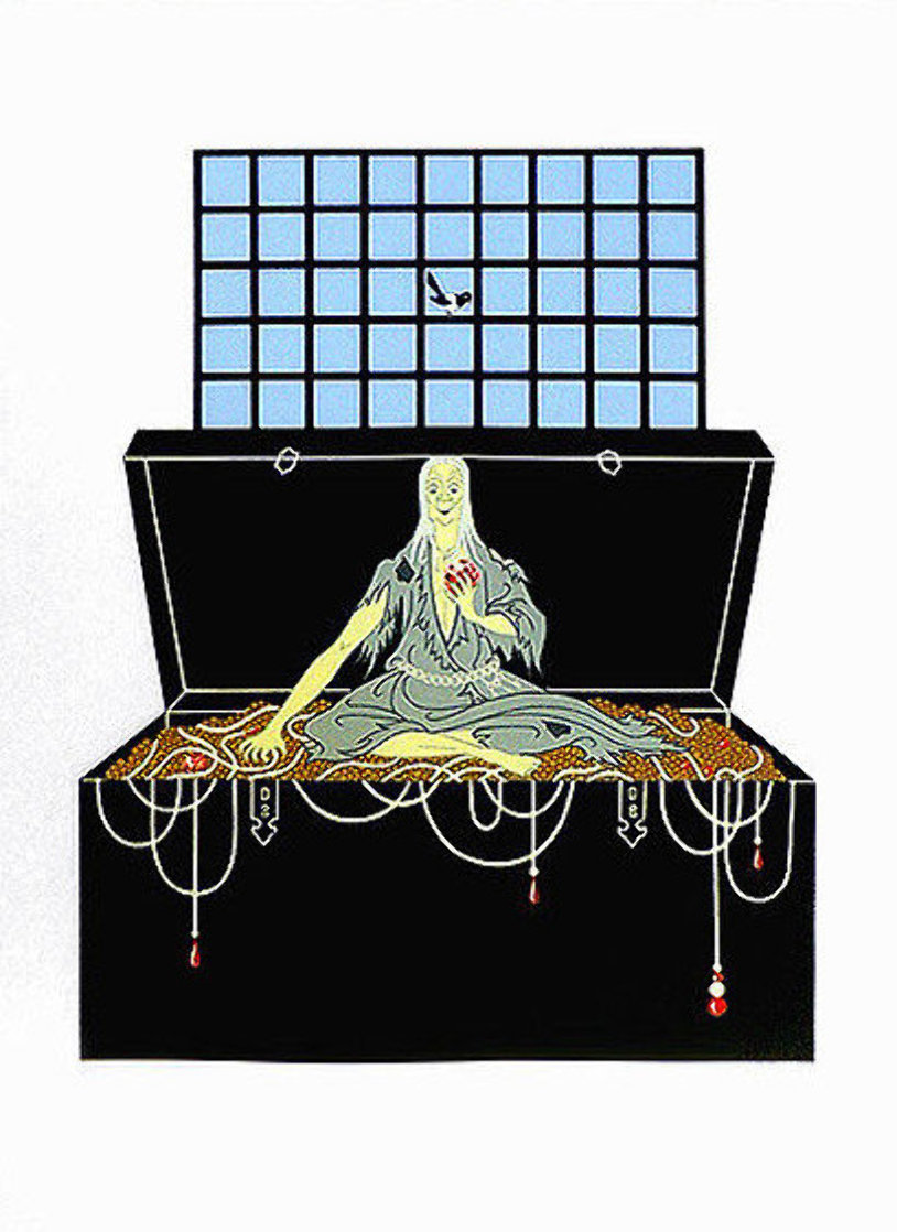7 Deadly Sins : Avarice AP 1980 Limited Edition Print by  Erte