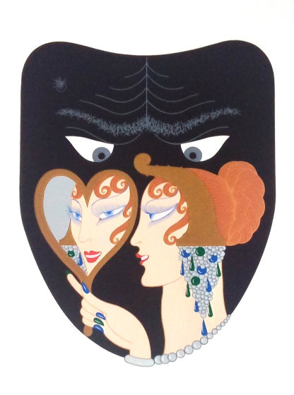 Complete Suite of Seven Deadly Sins 1983 Limited Edition Print by  Erte