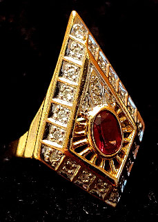 Gala Performance State III Gold Ring 1990  Jewelry by  Erte