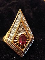 Gala Performance State III Gold Ring 1990  Jewelry by  Erte - 3
