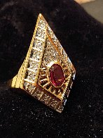 Gala Performance State III Gold Ring 1990  Jewelry by  Erte - 1