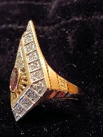 Gala Performance State III Gold Ring 1990  Jewelry by  Erte - 4