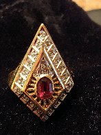 Gala Performance State III Gold Ring 1990  Jewelry by  Erte - 2