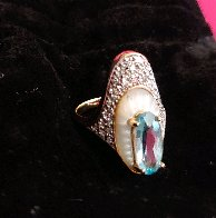 Alouette Gold Ring Size 6.5 1990  Jewelry by  Erte - 1