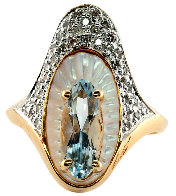 Alouette Gold Ring Size 6.5 1990  Jewelry by  Erte - 0