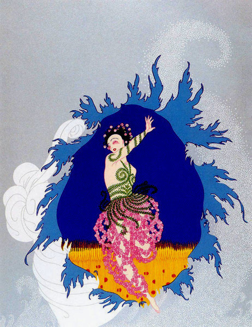 Coming of Spring 1982 Limited Edition Print by  Erte